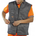 Reversible High Vis B-Seen Body Warmer PU Coating Yellow or Orange GO/RT Class 2