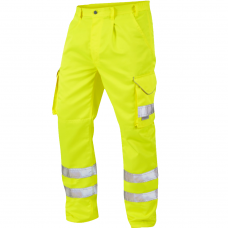 Leo Class 1 Poly/Cotton Cargo Work Trouser Yellow 3 Leg Lengths