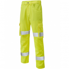 Lightweight Class 1 Poly/Cotton Cargo Work Trouser Yellow 3 Leg Lengths