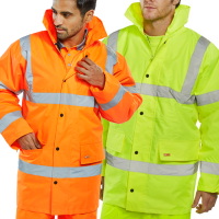 Click BSeen Constructor Rain Coat Class 3 High Visibility Yellow or Orange