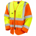 Executive Long Sleeved Zipped Waistcoat High Visibility Class 3