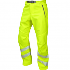 Premium 4 Way Stretch Hi Vis Work Trousers Water Repellent Yellow