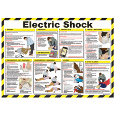 Electric Shock Treatment Guide 59 x 42cm Laminated Safety Poster