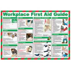Workplace First Aid 59 x 42cm Laminated Safety Poster