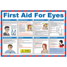 First Aid For Eyes 59 x 42cm Safety Poster