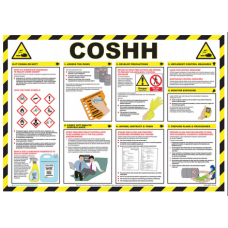 COSHH 59 x 42cm Laminated Safety Poster