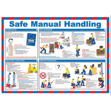 Safe Manual Handling 59 x 42cm Safety Poster