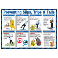 Trips and Falls 59 x 42cm Laminated Safety Poster