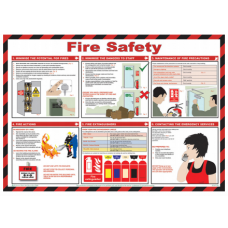 Fire Safety 59 x 42cm Safety Poster