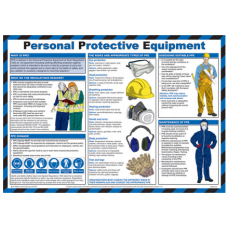 Personal Protective Equipment 59 x 42cm Safety Poster