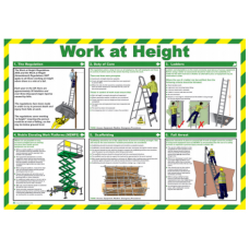 Work at a Height 59 x 42cm Laminated Safety Poster