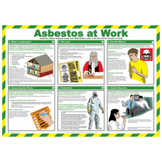 Asbestos at Work 59 x 42cm Safety Poster