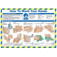 Wash Your Hands at Work 59 x 42cm Laminated Safety Poster