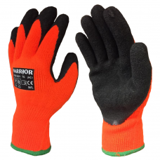Fleece Lined Contact Level 1 Cold Weather H/V Orange & Black Latex Gloves
