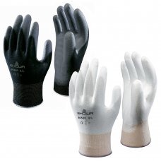 Showa B0500 Palm Fit White or Black PU Polyurethane Palm Coated Glove