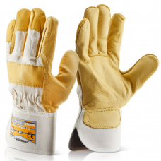 Premium Cow Hide Canadian Fleece Lined Rigger Work Gloves
