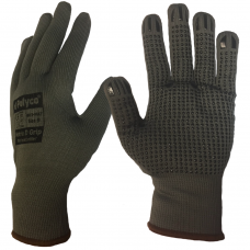 Polyco Matrix D Grip Polka Dot Palm Grey Liner Warehouse Gloves