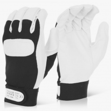 Soft Grain Leather Velcro Cuff Drivers Sports Glove.