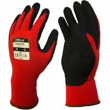 Aurelia® Flex Plus Sandy Nitrile on Nylon/Spandex Red Liner Gloves