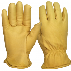 Premium Leather Cow Hide, Lined Drivers Glove Tested to EN388