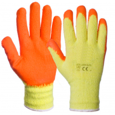 Handler Grippy Latex Rubber Palm Builders Glove Orange