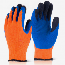Grip Kold Cold Weather Contact 2 Double Dip Finger Latex Gloves