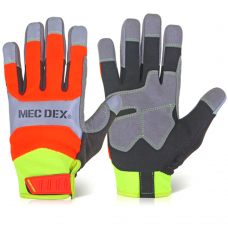 High Visibility MecDex Functional Plus Impact Mechanics Gloves