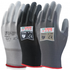 Click 2000 Puggy PU Palm Coated on Nylon Liner Precision Work Gloves