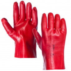 ST Red PVC Full Dip Gauntlet Open Cuff 11 inch