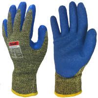 Pawâ Latex Coated DuPont™Kevlar® and Steel ISO Cut E & Heat Safety Gloves