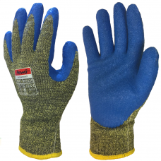 Pawâ Latex Coated DuPont™Kevlar® and Steel ISO Cut F & Heat Safety Gloves