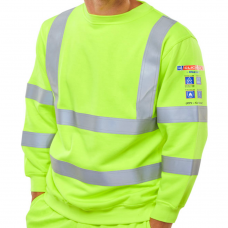 Fire Retardant, Hi-Vis, Anti-Static, ARC Flash (12.6 Cal/cm2) Long Sleeved Sweatshirt