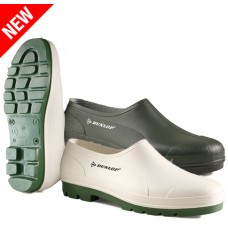 White or Green Dunlop NON SAFETY Wellie Shoe
