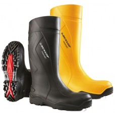 Dunlop Purofort+ Cold and Anti Slip Full Safety Yellow Wellington Boots