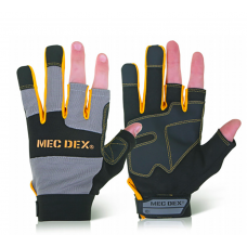 Mec Dex Semi Fingerless Work Passion Tool Mechanics Gloves