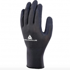 Delta Plus Black Latex  Palm on Black Polyester 13 gauge Work Glove