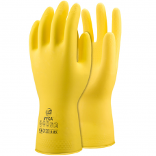 Vega™ Lightweight Flock Lined Rubber 30cm Chemical Gloves