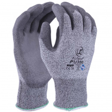 Kutlass PU300 Grey PU Palm Coat on HPPE Liner Cut Level 3 / B Gloves