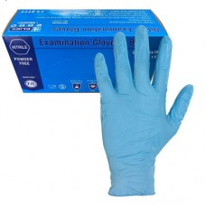 Blue Nitrile  Disposable Powder Free Food & Medical Use Gloves 100 hands/box