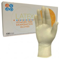 asap Latex Powder Free Examination Gloves x 100 hands