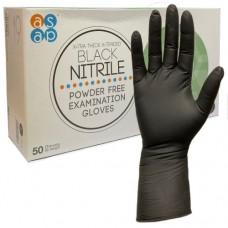 asap X-Tended Cuff Nitrile Engineers Examination Gloves x 50 hands