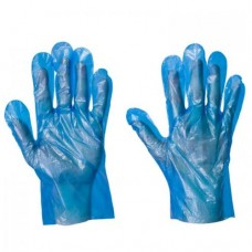 PE Polyethene Disposable Gloves x 100 hands/pack Blue