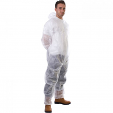 Disposable Hooded Coverall Polyprop. White