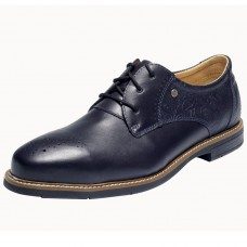 BARI Blue Leather Business Safety Shoes S3