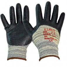 Klass Cut & 100 Degree Heat Resistant Aramid Fibre & Nitrile Knuckle Coated Safety Gloves