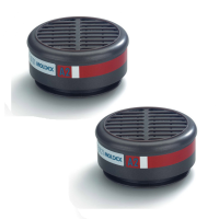 A2 8500 Gas & Vapour Filters for Moldex 8000 Mask Body (Pairs)