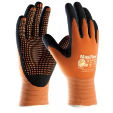 ATG® MaxiFlex Endurance Nitrile MicroDot Orange Grip and Black Gloves