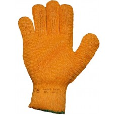 Yellow Criss Cross Gripper Ambidextrous General Handling Work Gloves