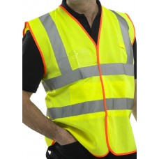High Visibility Retail Packed Class 2 Vest ID Pocket & Internal Pockets