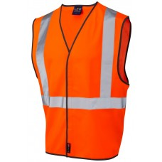 Railway High Visibility Velcro Fasten Pull Apart Waistcoat Ris-3279-Tom Railway Use Certified Class 2